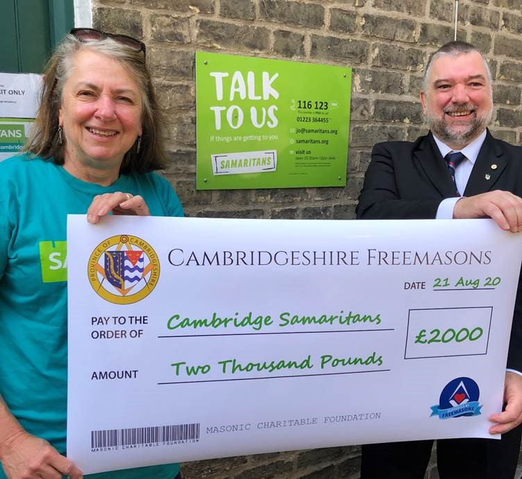 Samaritans get lockdown support from Cambridgeshire Freemasons
